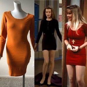 VINTAGE YES Clothing Women's Orange Mini dress